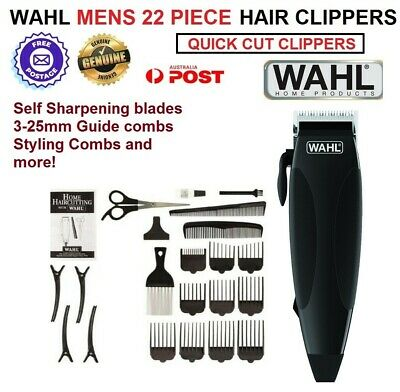 Wahl 22pc Electric Hair Clippers Professional Haircut Boys Trimmer with Guides