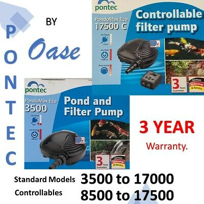 OASE Pontec Pondomax eco pond, waterfall, filter pump. Submersible or dry site.