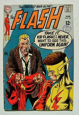 """Flash Vol.1 no.189 """"The Death Touch Of The Blue Ghost"""" DC Comics Silver Age Fine"""