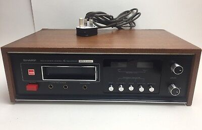 Vintage Sharp Rt-811E Solid State Stereo 8 Track Cassette Tape Recorder Japan