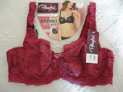 Soutien Gorge Playtex   neuf   Invisible Elegance Couleur Rouge Taille 95 D 178a259009a