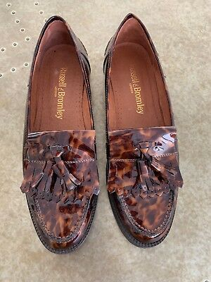Leopard Print Patent Loafers UK