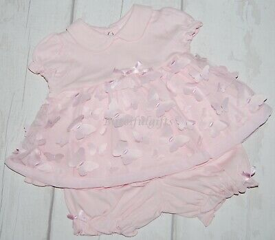 Stunning Baby Girls Spanish Style Pink Butterflies Top & Shorts Outfit
