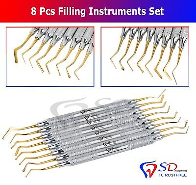 8 X Dentaire Composite Remplissage Reconstituant PLASTIQUE Placement Instruments