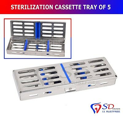 Smile Stérilisation Cassette Support Plateau 5 Instruments Dentaires Autoclave