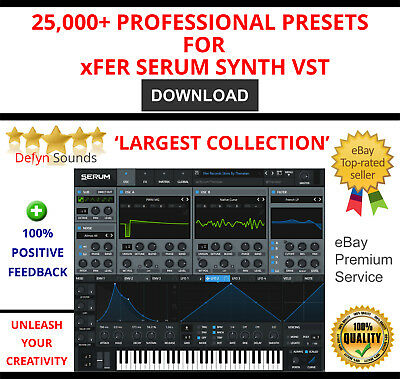 XFER SERUM BASS Presets Sub DJ Electronic EDM Patches