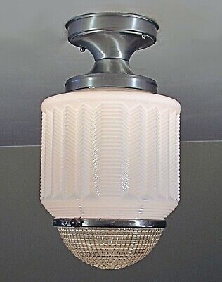 Antique Skyscraper Wedding Cake Light Fixture with NOS Perfeclite Ceiling Canopy