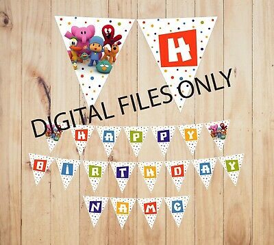 photograph relating to Printable Pdf Files known as (Electronic Data files Simply) POCOYO PRINTABLE PDF Record Satisfied Birthday Banner