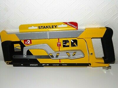 Stanley Hacksaw Heavy Duty 300mm 12 Inch and Mini Hack Saw Twin Pack STHT0-20036