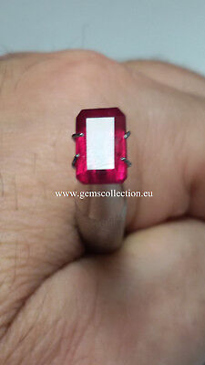 Aaa Natural Ruby - Rubino Naturale Ct 2.40 Si Octagon Cut Origin Madagascar