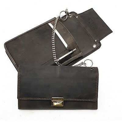 Real Leather Server Set 3-pc Wallet Server Case Holster