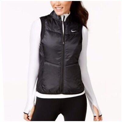 sports shoes dcaf6 b4a2a Nike Women s Essential Reflective Running Vest Black Sz L
