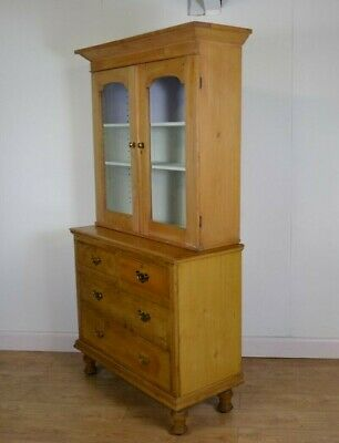 Antique Victorian Pine Bookcase/Storage