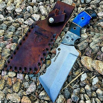 """8"""" Knife Full Tang Hunting Tactical Survival Steel Blade Horn Handle W/ Sheath"""