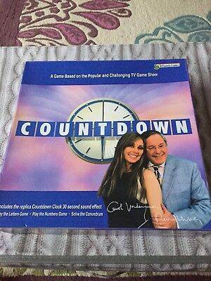 COUNTDOWN BOARD GAME Complete Clock Sound Effect Timer Game Night