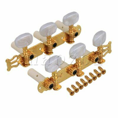 2x Classical Guitar Tuning Pegs String Tuners Machine Head Gold 11.5x3.8x4.1cm