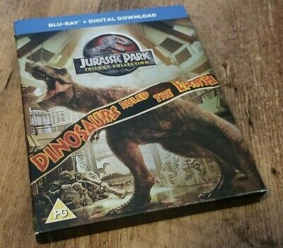 Jurassic Park: Trilogy Collection (Blu-ray, 3 Discs, Region Free) *USED/TESTED*