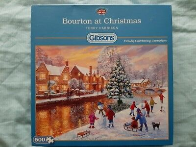 Puzzle Gibsons 500 Teile Terry Harrison 51131 Bourton at Christmas