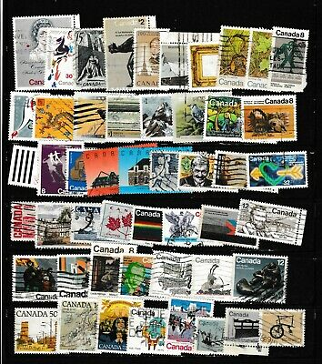 #1700=Canada used mix of 50 different commemorative stamps