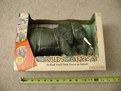 """The Wilds of Africa """"Elephant"""" animal figure 1997 Ertl / New in box Rare!"""