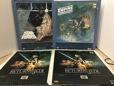 CED VIDEODISC Star Wars, Empire Strikes Back, and Return of the Jedi 4 Discs RCA