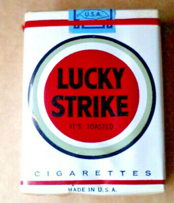 """1 VINTAGE ('60s-'70s) COLLECTIBLE CIGARETTE PACK - """"LUCKY STRIKE"""" - NOS! - EMPTY"""