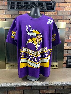 VINTAGE 90S MINNESOTA VIKINGS NFL VIKING PURPLE YELLOW 1996 t-shirt ... 286ef5421