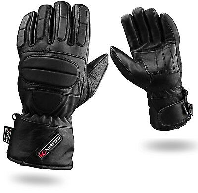 Leather Motorbike Gloves Thermal Waterproof Motorcycle Glove