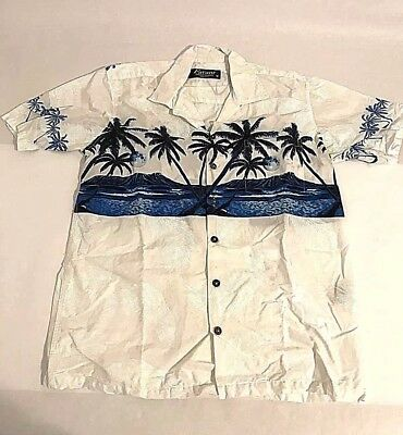 b7bc2850 Favant Mens Size L Tropical Button Front Short Slv Shirt Hawaiian Aloha