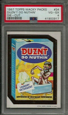 1967 Topps Wacky Packages #34 Duzn't Do Nuthin' Die-Cut PSA 4 VG-EX Card
