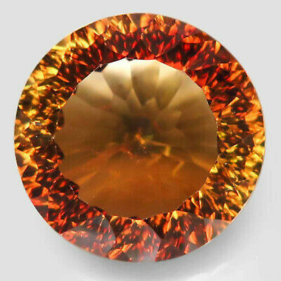 13.36 ct. Natural Top Imperial Topaz Unheated Brazil Millennium 14.5mm. AAA