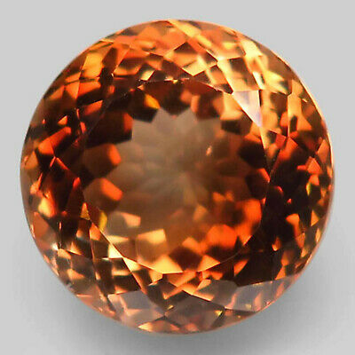 14.17 ct. Natural Top Imperial Topaz Unheated (Brazil) Round Facet 13mm.AAA