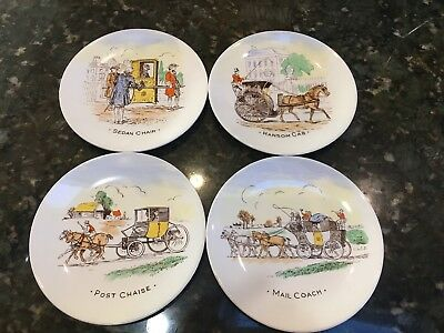 Vintage Burgess & Leigh Small Old English Travel Plates Set Of 4