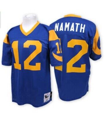 AUTHENTIC RARE MITCHELL   NESS Joe NAMATH 1977 Los Angeles RAMS Jersey-  Size 56 3ffcf5069