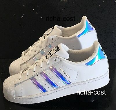 ee135063a376 Adidas Superstar Originals Aq6278 Whites Iridescent Uk4 4.5   5   5.5 New  Boxed