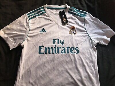 sports shoes c6c18 1eb88 REAL MADRID JERSEY 2017/2018 Home shirt adidas men's soccer LARGE