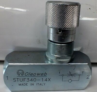"3/4"" BSP Hydraulic Oil Reverse Flow Check Valve 6000 PSI FREE POST AUST WIDE!"