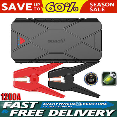 Suaoki 1200A Portable Car Jump Starter Auto Battery Charger Booster Power Bank