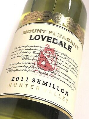 Mount Pleasant Lovedale Semillon 2011, Hunter Valley 1 X 750ml