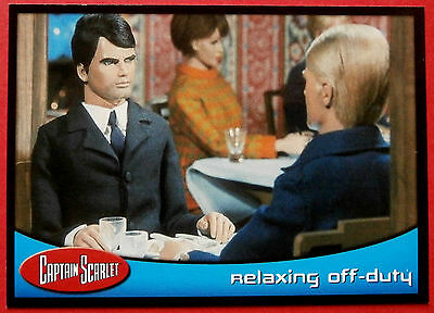CAPTAIN SCARLET - Card #64 - Relaxing Off-Duty - Cards Inc. 2001