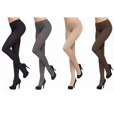 FT- Fashion Women Thick 120D Stockings Pantyhose Tights Opaque Footed Socks Natu