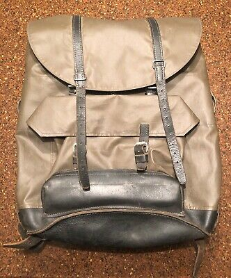 Vintage Swiss Military Rucksack - Leather Straps & Soldier's Name Included