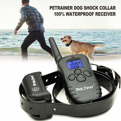 Petrainer Waterproof Rechargeable Dog Training Collar With Shock Remote Control