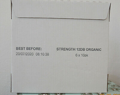 Organic Fairtrade Eco-Capsule 6 x 10 Pods #STRENGHT12DB ORGANIC COFFEE PODS!