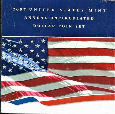 2007 6 Coin US Mint Annual Uncirculated Dollar Set Mint Sealed  UNOPEN