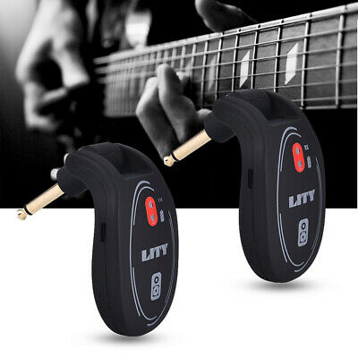 UHF 730MHz Wireless Transmitter Receiver System for Electric Guitar Violin Lates