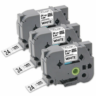 """3PK TZe251 24mm 0.94""""Label Tape Compatible for Brother P-Touch PT-P900W PT-P950W"""