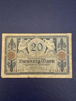 Germany - 20 Mark 1915 -  Very  Fine