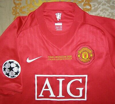1c0f71f1ea4 Ronaldo 7 Champions League Final 2008 Manchester United home shirt size L  jersey
