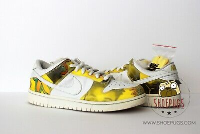 f82bb826c08b5d 2005 NIKE DUNK SB Low De La Soul sz 10 w  Box white yellow